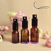 New 3pcs 10ml 20ml 30ml Amber Glass Spray Bottle Refill Perfume Water Atomizer