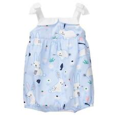 NWT Gymboree Baby Bunny Girls Blue Easter Rabbit Bubble Romper Sunsuit