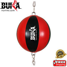 Buka Double End Leather Speedball Gym Workout Speed Punching MMA Training Bag