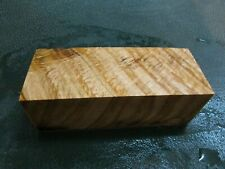 SPALTED TIGER OAK DELUXE KNIFE BLOCK/SCALES/ CALLS/ PEN BLANKS--O--A--2