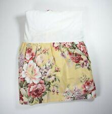 Ralph Lauren yellow floral full bed skirt