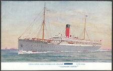 "Union Castle Line 1914 Steamer ""German"" renamed Glengorm Castle pc unused Scarce"