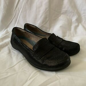 Naturalizer N5 Comfort Shoes Loafers 'Denise' Black Leather Size 38 US 7.5 W