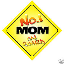 No.1 Mom Novelty Car Sign Birthday Mothers Day Gift