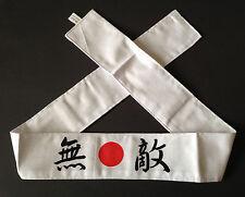 Japanese Hachimaki Headband Martial Arts Sports MUTEKI Invincible, Made in Japan