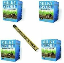 MILKY SPORE 4 x 40oz GRUB CONTROL & DISPENSER TUBE