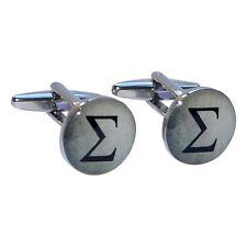 Greek Sigma Letter Cufflinks X2BOC159