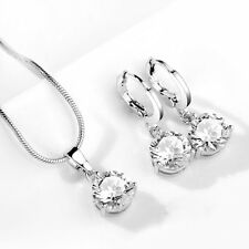 Bridesmaid Wedding Jewellery Set, Crystal Earrings & Necklace, Bridal Jewelry