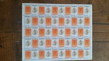Canadian stamps full sheet of 50 MNH, Plains Indians, #564-565, Multicoloured