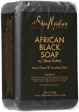 Shea Moisture African Black Soap with Shea Butter 8oz 230g
