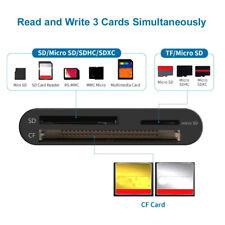 Black SD & CF Aluminum Alloy TF Adapter USB 3.0 Card Reader Memory Card Readers