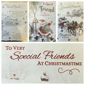 SPECIAL FRIENDS CHRISTMAS CARD  (XMAS10)  FREE UK POSTAGE