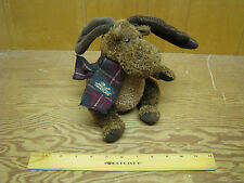 "Vintage GUND LINDT Chocolate STUFFED Moose Plush Toy 7.25"" tall EUC #42435"