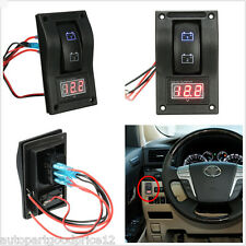 DC12V Car SUV Truck Marine Dual LED Battery Test Switch Panel with Voltage Meter