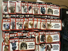 Beware! Dog On Duty Magnet Laminated Car Pet 6x4 New  x97