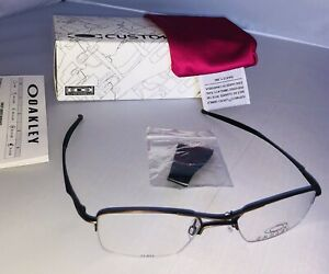 New In Box Oakley Hollow Point 4.0 Eye Reading Glasses Metal Half Frame Original