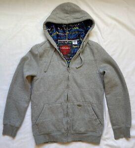 SIMS Snowboarding Since 76 Women Large Jacket Sweater Hoodie Zip Gray Multicolor