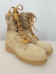 WELLCO Military Flight Combat Work BootsHot Weather Desert Tan 4.5R Men's(7 US)