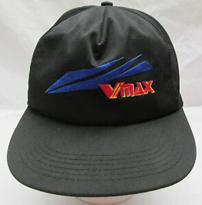 Yamaha VMax Snowmobile Racing Cap Hat Black Embroidered USA One Size