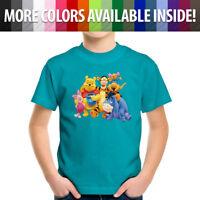 Disney Winnie Pooh Tigger Piglet Friends Family Toddler Kids Tee Youth T-Shirt