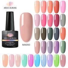 MEET ACROSS 8ml Nail 250 Solid Color Gel Polish Soak off UV Nail Art Gel Varnish