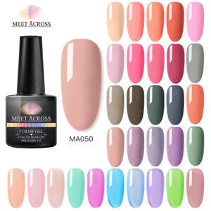 MEET ACROSS Nail Art Gel Color Polish Soak-off UV/LED Decors Varnish 8ml Spring