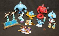 Disney Figure Collection: ALADDIN Figurine Lot - Jasmin, Rajah, Abu & Red Genie