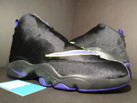 Nike Air Zoom Flight THE GLOVE 1 GARY PAYTON BLACK PURPLE VOLT GP 616772-003 7.5