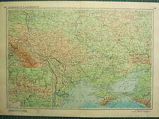 1955 LARGE RUSSIAN MAP ~ RUSSIA CCP ~ CRIMEA UKRAINE ODESSA