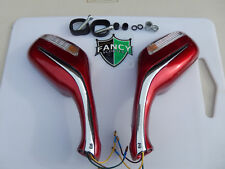SCOOTER REVIEW MIRROR W/TURN SIGNAL & 8MM MOUNTING BURGUNDY  COLOR ALL BRANDS