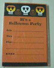 Hallmark HALLOWEEN INVITATIONS - 2 pks Fill In Party Info Flat Card Design NEW