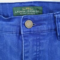 LRL Lauren Jeans Co Ralph Lauren Modern Straight Denim Jeans Royal Blue Size 4