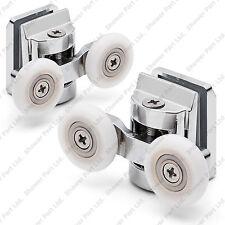 2 x twin top en alliage de zinc porte de douche galets / coureurs / roues roue 23mm L067 dia