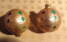 IKEA Holiday Christmas 33 ornaments gold dark red light green fine decorations