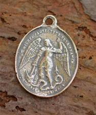 in Sterling Silver, Ar-465 Saint Michael Archangel Vintage Reproduction
