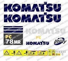 KOMATSU PC78MR DIGGER DECAL STICKER SET