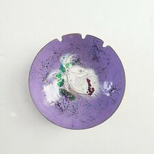 Vintage Sascha Brastoff Horse Dish Purple Enamel Copper, MCM Abstract Dali style