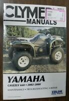 New Clymer Manual Yamaha 02-08 Grizzly 660 M285-2