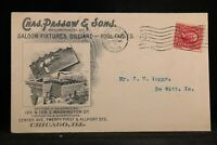 Illinois: Chicago 1903 Passow Saloon, Pool Table Factory Advertising Cover