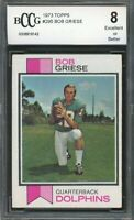 1973 topps #295 BOB GRIESE miami dolphins BGS BCCG 8