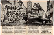 1976 AUDI Fox Wagon Vintage Original 2 page Print AD Black car photo Canada EN
