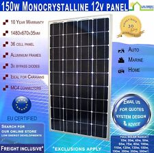 New 150 Watt 12v Monocrystalline Solar Panel 150w New --- Freight Inclusive!*