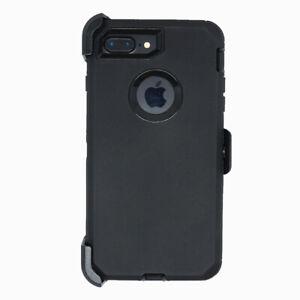 Black For iPhone 7/8 Plus Shockproof Case with Belt Clip Fits Otterbox Defender
