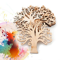 10pcs Wooden Tree Shaped Embellishments Ornament for DIY Hanging Crafts