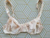 Vintage 90's Victoria's Secret Second Skin Satin Unlined Wide Strap Bra Pink 36B