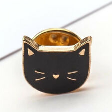 Black Cat Head Design Pins Brooch Clothes Bag Collar Pin Brooch Jewelry Gift ~