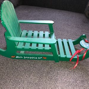 All Spruced Up NABCO Muffy VandeBear Accessory Wooden Sled 1998