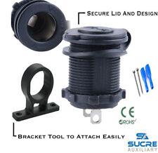12V/24V Waterproof Power Boat Car Cigarette Lighter Socket Plug + Bracket