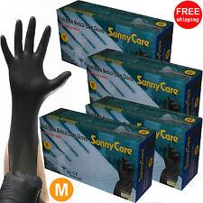 400pcs 5mil Black Nitrile Exam Gloves Powder-Free (Latex Vinyl Free) Size:Medium