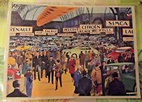 Set de Table Affiche Art Scolaire 42x30 Salon de l'Automobile Fiat Delage Rolls